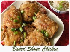 Try this Japanese local style baked shoyu chicken recipe. With a little mirin and shoyu. Get more Hawaiian and local style recipes here. Shoyu Chicken Recipe Hawaii, Mochiko Chicken, Baked Chicken, Chicken Recipes, Hawaiian Korean Chicken Recipe, Asian Chicken, Chicken Bacon, Grilled Chicken, Asian