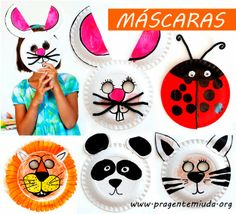 Cardboard plate animal masks with kids crafts Paper Plate Masks, Paper Plate Art, Paper Plate Animals, Paper Plate Crafts, Paper Plates, Animal Plates, Kids Crafts, Toddler Crafts, Preschool Crafts
