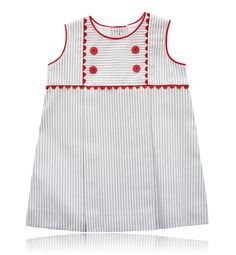 04e72cbdab Spanish baby clothes | baby baby girl dress | White & grey striped  dress