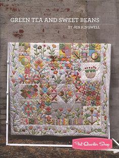 Green Tea and Sweet Beans Quilt Pattern Booklet Jen Kingwell Designs #JKD-5002 | Fat Quarter Shop