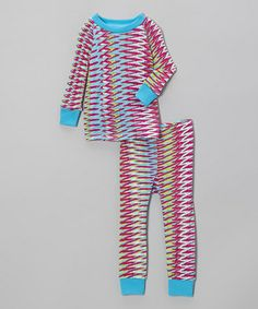 Take a look at this Hot Pink Abstract Stripe Pajama Set - Infant & Toddler by Cat & Cow on #zulily today!