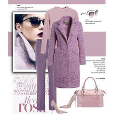 Pantone Color Purple by cruzeirodotejo on Polyvore featuring moda, Chicnova Fashion, Viyella, Jimmy Choo, Marc by Marc Jacobs, purple, lavender and pantone