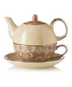 Love this Mocha Nouveau Tea-for-One Set by Yedi Houseware on #zulily! #zulilyfinds