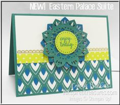 New!  Stampin' Up! Eastern Palace Stamp and Thinlits Suite with new In Colors and Designer Paper!  LOVE!  #easternbeauty, #easternpalace, #stampinup, #inkspiredtreasures, created by Connie Babbert, www.inkspiredtreasures.com
