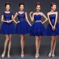 Jolie mode 2016 Royal Blue a ligne courtes demoiselles d'honneur robes, Violet Champagne ivoire pas cher robes de bal et de demoiselle d'honneur dresse dans Robes de demoiselles d'honneur de Mariages et événements sur AliExpress.com   Alibaba Group