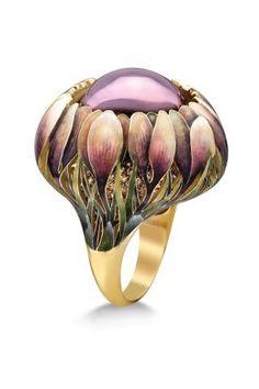 "Stunning-- ""Crocuses"" from Ilgiz Fazulzyanov 750 Gold, Amethyst, Sapphire and Enamel. I Love Jewelry, Modern Jewelry, Jewelry Art, Jewelry Accessories, Fine Jewelry, Fashion Jewelry, Jewelry Making, Trendy Accessories, Enamel Jewelry"
