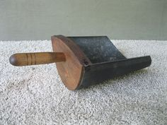 Antique Scoop #5 Grain Seed Tin Wood Handle Vintage Primitive Country Store Barn