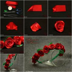 DIY Rose Ribbon Headband Pictures, Photos, and Images for Facebook, Tumblr, Pinterest, and Twitter