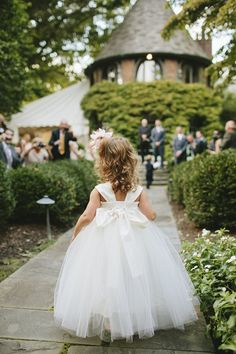 cutest flower girl and tulle dress! Photo By Brooke Courtney Photography