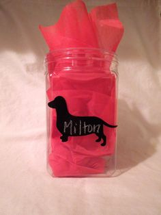 Chalkboard Dachshund Labels - Set of 6. $10.00, via Etsy. Other breeds available!