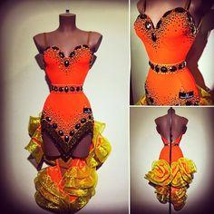 #abrahammartinez #dress #latin #orange #gold #cristal #swarovski #cristalfringes #design #designer #forsale FOR SALE!!