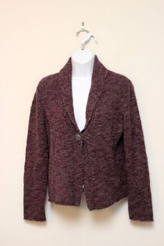 J.Jill Purple Wool Alpaca Blend Cardigan Sweater Size S #JJILL #Cardigan