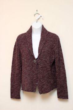 J.Jill Purple Wool Alpaca Blend Cardigan Sweater Size S #JJILL #Cardigan