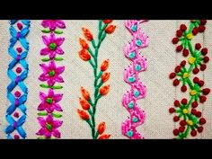YouTube Crazy Quilting, Crazy Quilt Stitches, Hand Embroidery Videos, Embroidery Stitches Tutorial, Embroidery For Beginners, Hand Embroidery Patterns, Embroidery Techniques, Knitting Stitches, Silk Ribbon Embroidery