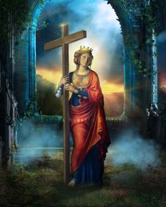 Catholic Art Religious Art St. Helen Print by by ThreeArchangels