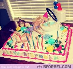 b for bel: Best 21st Birthday Cake EVER. #Barbie #party