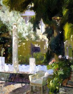 Joaquín Sorolla y Bastida (Spanish, 1863-1923), The Garden of the Sorolla Family House, 1920. Oil on canvas. Museo Sorolla, Madrid.
