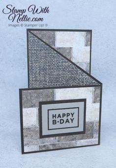Homemade Birthday Cards, Birthday Cards For Boys, Masculine Birthday Cards, Masculine Cards, Homemade Cards For Men, Male Birthday, Fancy Fold Cards, Folded Cards, Cards For Men Handmade