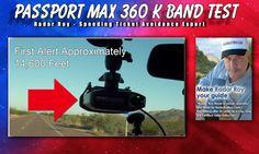 Passport Max 360 K Band Radar Detector Test Genesis VP