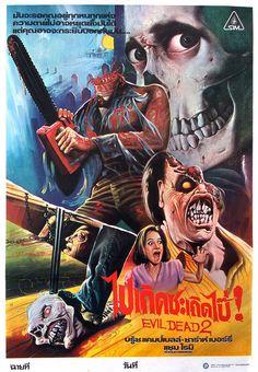 Evil Dead 2, 1987 (Thai Film Poster) by Aeron Alfrey, via Flickr