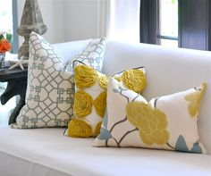 Living room colors, gorgeous fabric for pillows