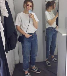 Victoria Koydl - Madotta Marble Phone Case, Cos White T Shirt, Levi's® Blue Jeans Levis 550, Vans Old Skool - Trust Nobody - Cashmere Cat