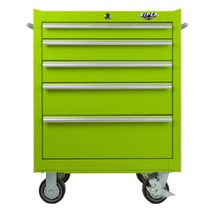 The Original Pink Box – 26 Inch Lime Green 5-Drawer Rolling Cabinet