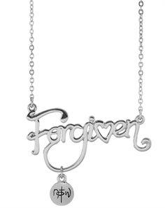 Forgiven Script Necklace - Christian Necklace for $12.99 | notw.com