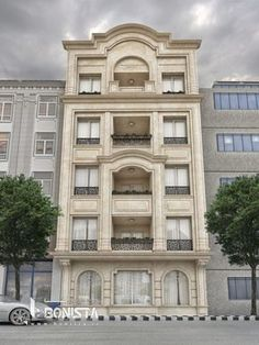 طراحی نما کلاسیک ساختمان مسکونی کاشانک | گروه معماری BONISTA
