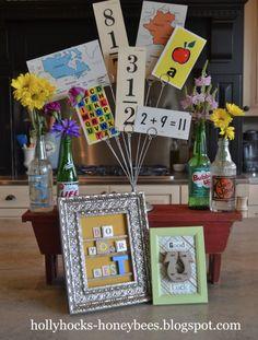 Back to School decor ideas- Hollyhocks & Honeybees