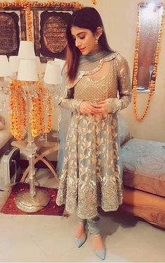 Subtle color combination Colors & Crafts Boutique™ offers unique apparel and jewelry to women who value versatility, style and comfort. For inquiries: Call/Text/Whatsapp Pakistani Wedding Dresses, Pakistani Outfits, Indian Outfits, Bridal Dresses, Pakistani Fashion Party Wear, Eid Dresses, Elegant Dresses, Indian Attire, Indian Wear
