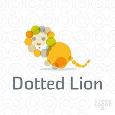 Lion made of dots