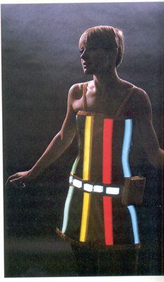 Diana Dew's electric light dress, 1960s.