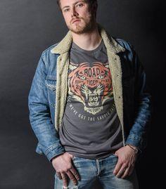 Tee-shirt Tiger gris vintage#sweatShirt #BikerClothes #VintageStyle #Triumph #MotoVintage #CustomCulture #GentlemensFactory #LaurentScavone #VetementMoto #CustomBike #CasqueMoto #BlousonMoto