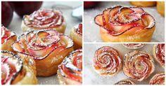 Aprende a fazer esta sobremesa de maça em formato de rosas