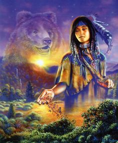 Fantasy art - Native american - Galleries - Page 57 Native American Wolf, Native American Wisdom, Native American Pictures, Native American Artwork, Native American Beauty, American Spirit, American Indian Art, American Indians, American Girl