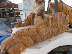 The Tiger. Week five Outdoor Sculpture, Natural Stones, Mount Rushmore, Sculptures, Art, Art Background, Kunst, Performing Arts