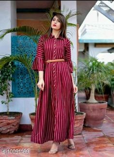 Dresses Classy Women Gown Fabric: Crepe Sleeve Length: Three-Quarter Sleeves Pattern: Printed Multipack: 1 Sizes: S (Bust Size: 36 in Length Size: 52 in)  XL (Bust Size: 42 in Length Size: 52 in)  L (Bust Size: 40 in Length Size: 52 in)  M (Bust Size: 38 in Length Size: 52 in)  XXL (Bust Size: 44 in Length Size: 52 in)  XXXL (Bust Size: 46 in Length Size: 52 in)  Country of Origin: India Sizes Available: S, M, L, XL, XXL, XXXL   Catalog Rating: ★4 (587)  Catalog Name: Trendy Feminine Women Dresses CatalogID_1807830 C79-SC1025 Code: 584-10091169-8421