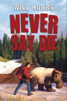 Never Say Die by Will Hobbs--- Fifteen-year-old half-Inuit Nick and his white brother, Ryan, meet and share an adventure on the Firth River in the Canadian Arctic, facing white water, wild animals, and fierce weather as Ryan documents the effects of climate change on caribou for National Geographic magazine.  FIC HOB