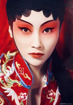 Beautiful Beijing Opera make up