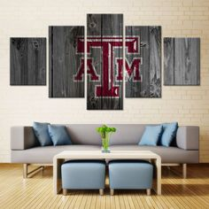 Texas A&M College Football Barn Wood Style Canvas (not actual barnwood)