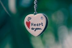 Pendant Chain Heart Love Green Background HD Wallpaper