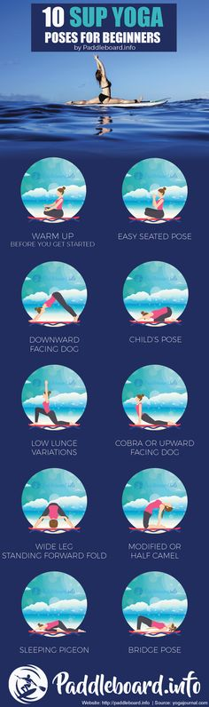 10 SUP YOGA poses for beginners - Paddleboard Yoga