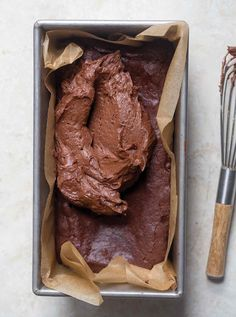 This small batch brownies recipe is baked in a loaf pan and serves just a few so you don't have an entire baking pan tempting you. Small Desserts, Mini Desserts, Just Desserts, Delicious Desserts, Dessert Recipes, Light Desserts, Easter Desserts, Best Brownie Recipe, Brownie Recipes