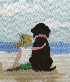 Heather Stillufsen illustration, created by Patti Mann Needlepoint Canvases. Heather Stillufsen illustration, created by Patti Mann Needlepoint Canvases. Check your local shop Needlepoint Designs, Needlepoint Stitches, Needlepoint Canvases, Needlework, Dog Canvas Painting, Dog Paintings, Bargello, Cross Stitch Designs, Rugs