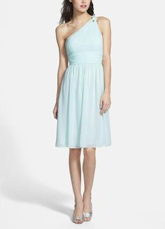 "Sweet chiffon dress in ""beach glass"""