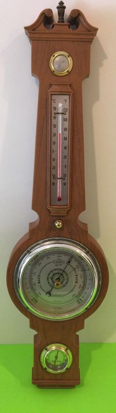 Very Nice Springfield Weather Station, has built in Weather Radio! Thermometer, Barometer and Humidity Gauge all work, as does the Radio. Get ready for Winter with this handy and decorative Piece! Some wear on outside dials, requires 9 volt battery for Radio function,(not included). | eBay!