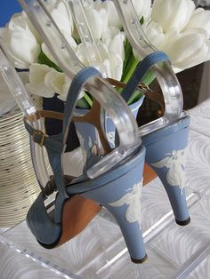 Wedgwood shoes. You need something blue, and you know how much I love Wedgwood.