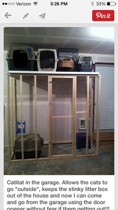 How to build litter box in garage