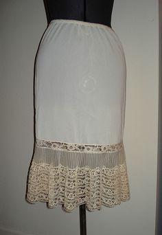 lacy vintage slip